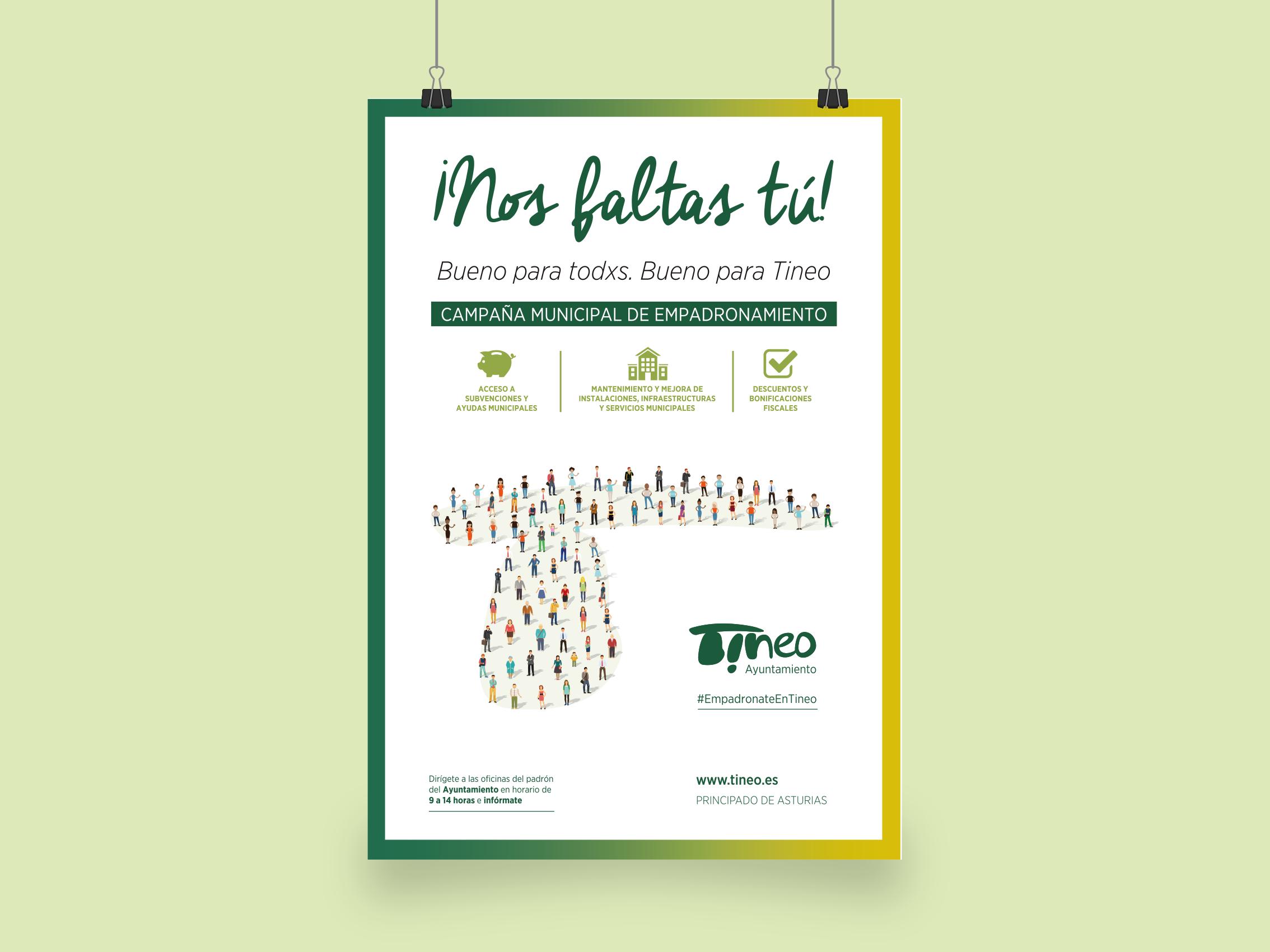 Cartel Campaña Empadronamiento Ayuntamiento de Tineo