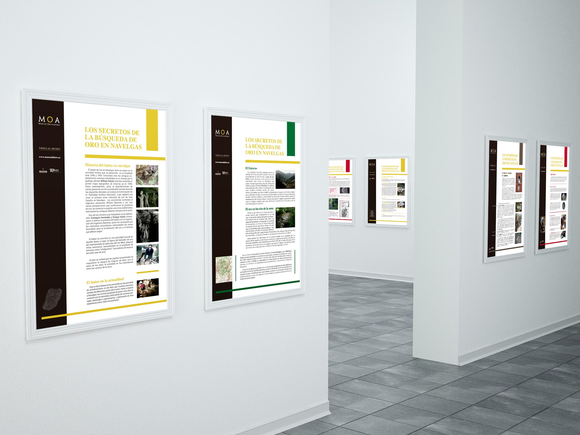 Paneles Exposición Museo del Oro de Asturias
