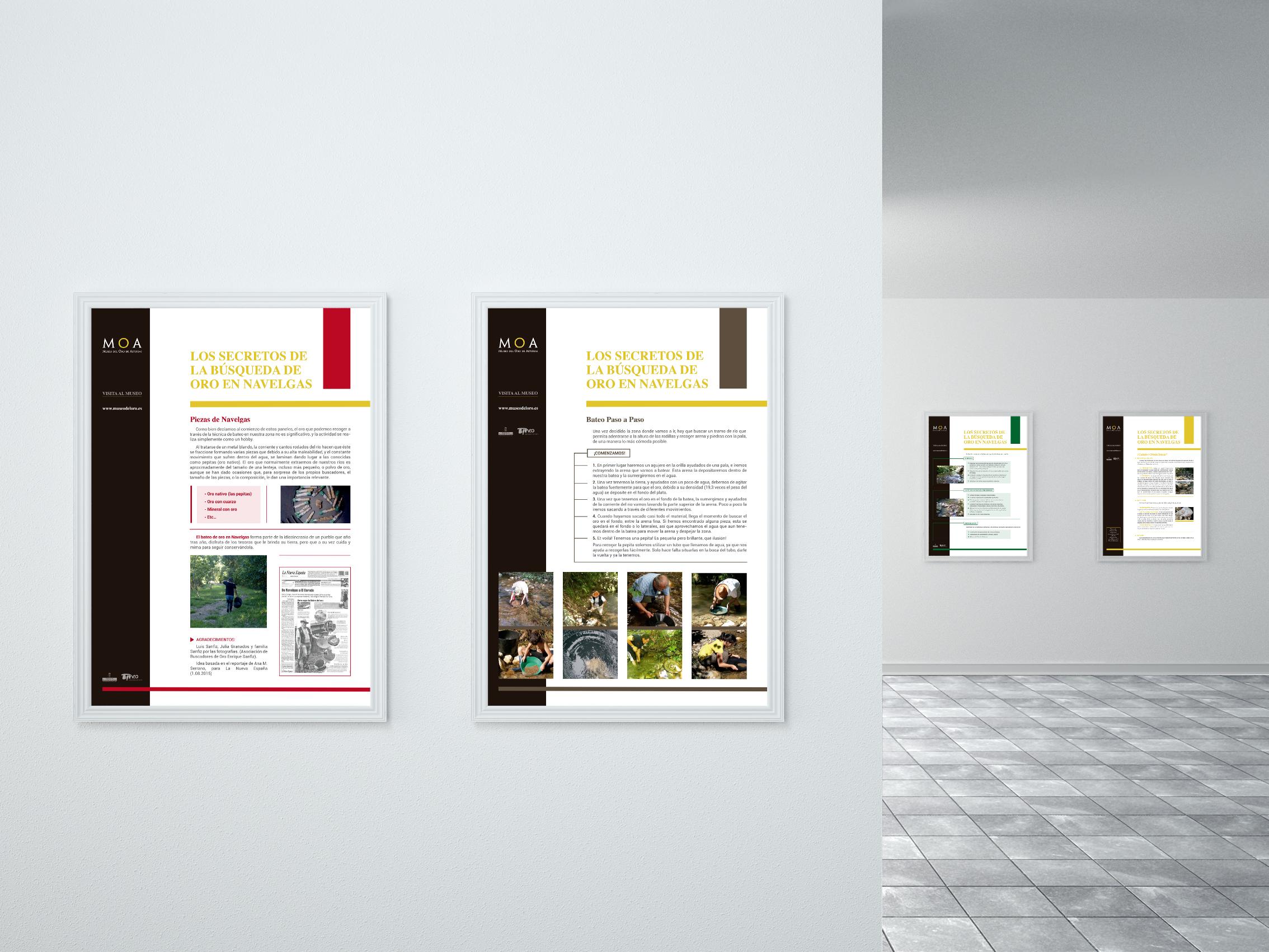Paneles Exposición Museo del Oro de Asturias 2
