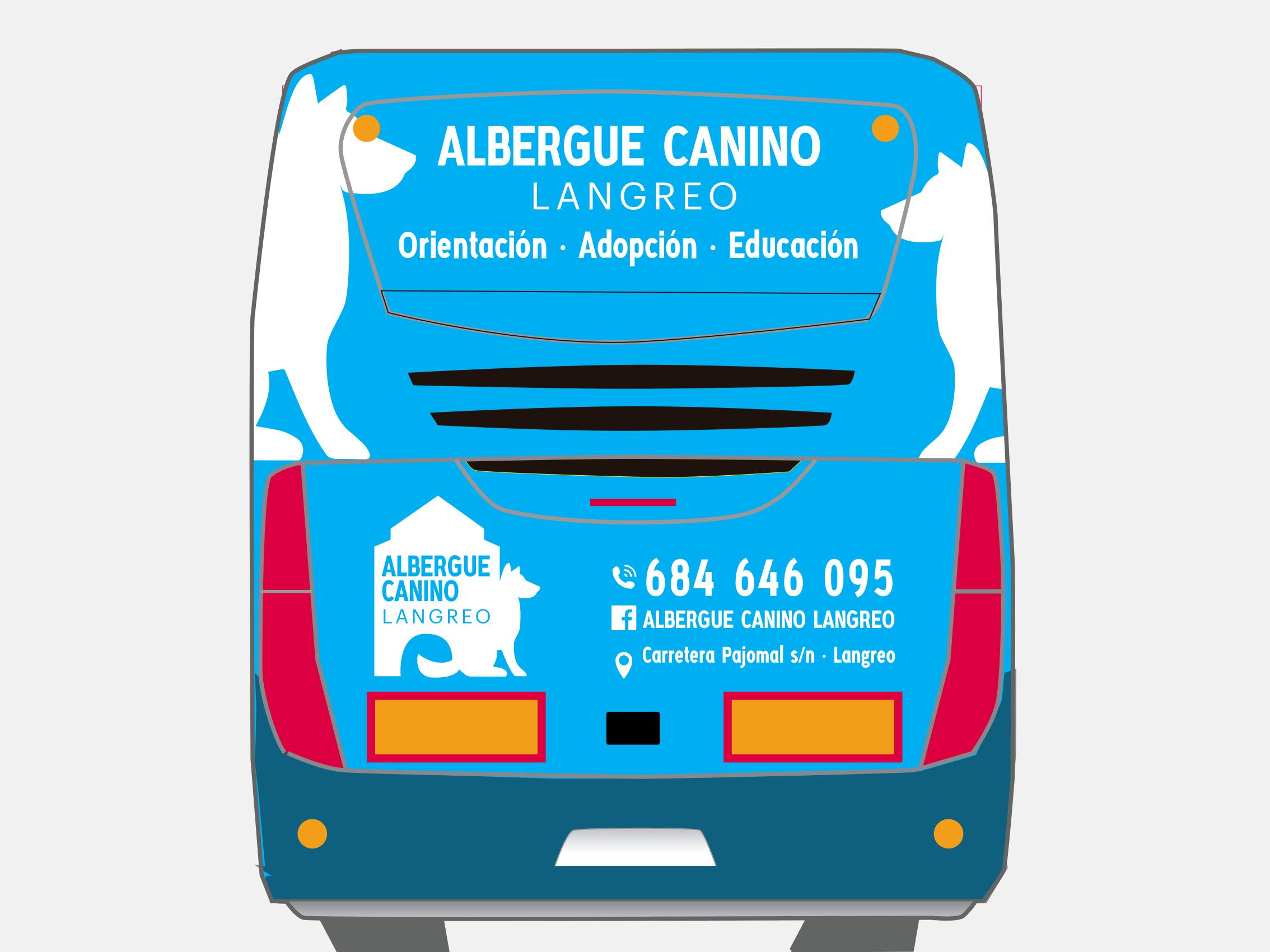Autobús Albergue Canino Langreo
