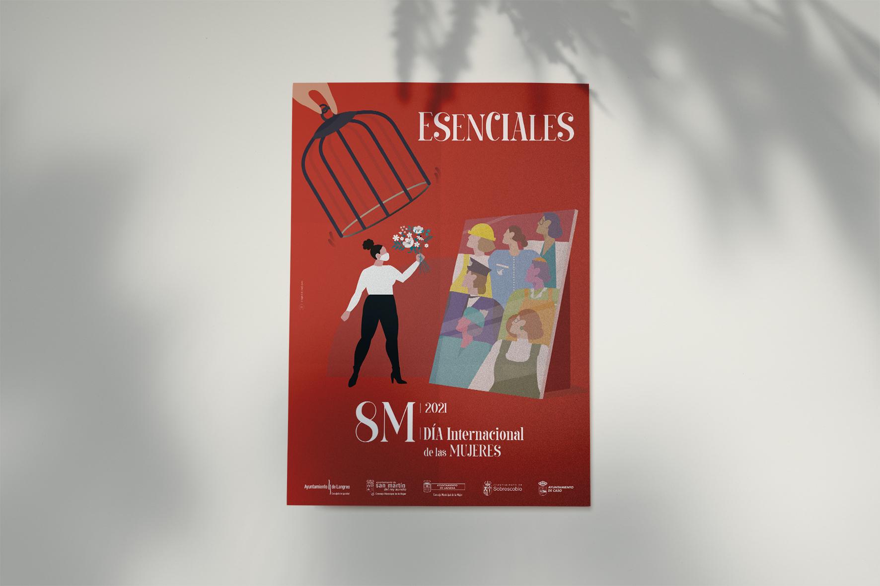 8M Día Internacional de la Mujer 2021 cartel